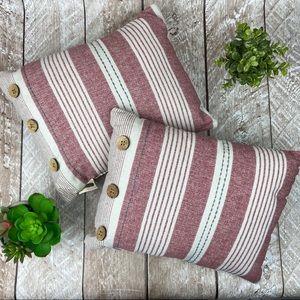 Beekman 1801 Modern Farmhouse Striped Throw Pillow